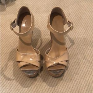 Jimmy Choo Shoes - jimmy choo nude wedge size 36. great condition.